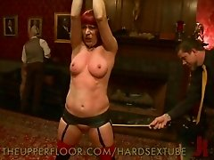 The Upper Floor invites you to another one of their wild sex slave parties. An orgy ensues as slaves are tied up and fucked for the pleasure of their