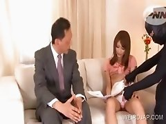 Asian beauty pussy vibed in an interview