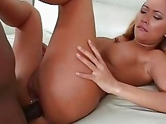 Huge tits asian beauty Bamboo assbanged hard and facialised by big black pipe