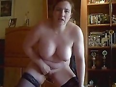 My horny wife masturbate for you in front of cam