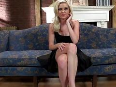 Cute blonde teen Chloe Foster facialized