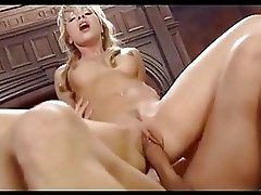 Magnetic blonde with braids takes hard dick up her butt