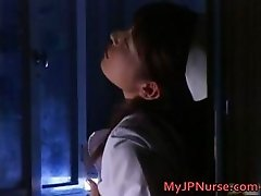 Ann Nanba Asian nurse gets a hot facial part1