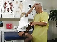 Slutty blonde nurse gets banged by he tattooed patient