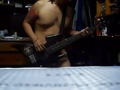 naked bass playing
