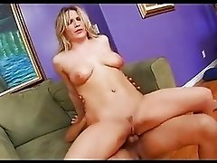 Horny hot slut Crystal Ray pleases two hard cocks in two hot holes