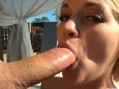 Adorable cutie feels sperm on mambos